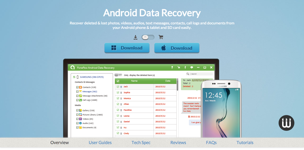 FonePaw Android Data Recovery: Android Files Rescuer